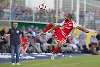 Akaki Gogia,  Trainer Urs Fischer      <br /> / Sport / Football / DFB Pokal 1.round 3. Bundesliga 2.Bundesliga /  2018/2019 / 19.08.2018 / FC CZ Jena vs. 1.FC Union Berlin / DFL regulations prohibit any use of photographs as image sequences and/or quasi-video. /<br />       <br />    <br />  *** Local Caption *** © pixathlon<br /> Contact: +49-40-22 63 02 60 , info@pixathlon.de