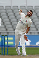 5th July 2021; Emirates Old Trafford, Manchester, Lancashire, England; County Championship Cricket, Lancashire versus Kent, Day 2;  Three wickets for James Anderson of Lancashire reduced Kent to 5-3 early in the afternoon session