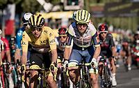 yellow jersey / GC leader Tadej Pogacar (SVN/UAE-Emirates)<br /> <br /> Stage 21 (Final) from Chatou to Paris - Champs-Élysées (108km)<br /> 108th Tour de France 2021 (2.UWT)<br /> <br /> ©kramon