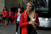 Cincinnati, OH - Tuesday September 19, 2017: Abby Dahlkemper during an International friendly match between the women's National teams of the United States (USA) and New Zealand (NZL) at Nippert Stadium.