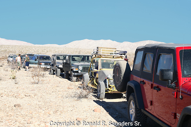 FOUR WHEEL DRIVE CARAVAN in the DESERT