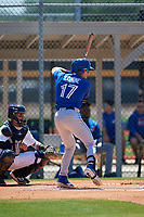 Toronto Blue Jays Griffin Conine (17) during a Minor League Spring Training game against the Detroit Tigers on March 22, 2019 at the TigerTown Complex in Lakeland, Florida.  (Mike Janes/Four Seam Images)