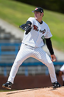 Starting pitcher Aaron Poreda (49) in action versus the Frederick Keys at Ernie Shore Field in Winston-Salem, NC, Sunday, April 20, 2008.