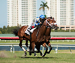 HALLANDALE BEACH, FL - March 3: Maraud, #2, with John Velazquez in the irons for trainer Todd Pletcher, out-duels Speed Franco and Emisael Jaramillo on the stretch to win the Grade III Palm Beach Stakes at Gulfstream on March 3, 2018 in Hallandale Beach, FL. (Photo by Carson Dennis/Eclipse Sportswire/Getty Images.)