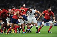 Alex Corbisiero of England leads the charge for England - 15/08/2015 - Twickenham Stadium - London <br /> Mandatory Credit: Rob Munro/Stewart Communications
