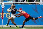 Hong Kong plays China during the17th Asian Games 2014 Rugby Mens Sevens tournament on October 01, 2014 at the Namdong Asiad Rugby Field in Incheon, South Korea. Photo by Alan Siu / Power Sport Images