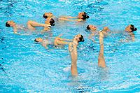 Italy ITA<br /> CALLEGARI Beatrice CAVANNA Domiziana<br /> CERRUTI Linda DEIDDA Francesca<br /> di CAMILLO C. FERRO Costanza<br /> GALLI Gemma PEZONE Alessia<br /> PICCOLI Enrica SALA Federica<br /> Gwangju South Korea 18/07/2019<br /> Artistic Swimming Free Combination Preliminaries<br /> 18th FINA World Aquatics Championships<br /> Yeomju Gymnasium <br /> Photo © Giorgio Scala / Deepbluemedia / Insidefoto