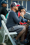 July 30, 2019: Coach of Bethanie Mattek-Sands (USA) cheers her on where she defeated Venus Williams (USA) 6-7, 6-3, 6-1 in the first round of the Mubadala Silicon Valley Classic at San Jose State in San Jose, California. ©Mal Taam/TennisClix/CSM