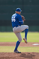 Kansas City Royals relief pitcher Evan Steele (66) delivers a pitch to the plate during an Instructional League game against the San Francisco Giants at the Giants Training Complex on October 17, 2017 in Scottsdale, Arizona. (Zachary Lucy/Four Seam Images)