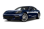 Stock pictures of low aggressive front three quarter view of a 2018 Porsche Panamera 4S 5 Door Hatchback