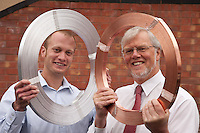 Pictured from left are John Blackwell and John Ashmore from Protectis, of Nottingham