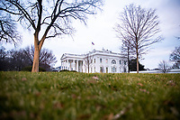 Sunrise at the White House as supporters of US President Donald J. Trump gather to protest Congress's upcoming certification of Joe Biden as the next president in Washington, DC, USA, 06 January 2021. Various groups of Trump supporters are gathering on the Ellipse to hear President Trump speak during a rally as Congress prepares to meet and certify the results of the 2020 US Presidential election.<br /> Credit: Shawn Thew / Pool via CNP/AdMedia
