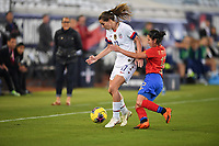 JACKSONVILLE, FL - NOVEMBER 10: Tobin Heath #17 of the United States moves with the ball during a game between Costa Rica and USWNT at TIAA Bank Field on November 10, 2019 in Jacksonville, Florida.