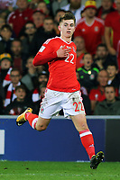 Ben Woodburn of Wales in action during the FIFA World Cup Qualifier Group D match between Wales and Republic of Ireland at The Cardiff City Stadium, Wales, UK. Monday 09 October 2017