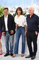 CANNES, FRANCE. July 8, 2021: Francois Ozon, Sophie Marceau & Andre Dussollier at the photocall for Everything Went Fine at the 74th Festival de Cannes.<br /> Picture: Paul Smith / Featureflash