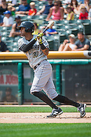 Jose Martinez (30) of the Omaha Storm Chasers at bat against the Salt Lake Bees in Pacific Coast League action at Smith's Ballpark on August 16, 2015 in Salt Lake City, Utah. Omaha defeated Salt Lake 11-4. (Stephen Smith/Four Seam Images)