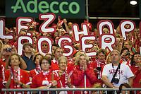 Switserland, Genève, September 20, 2015, Tennis,   Davis Cup, Switserland-Netherlands, Support for Federer<br /> Photo: Tennisimages/Henk Koster