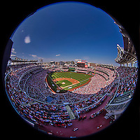 6 April 2015: A sellout crowd of 42,295 watch the Washington Nationals Season Opening Game against the New York Mets at Nationals Park in Washington, DC. The Mets rallied to defeat the Nationals 3-1 in their first meeting of the 2015 MLB season. Mandatory Credit: Ed Wolfstein Photo *** RAW (NEF) Image File Available ***