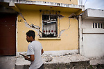 The house in San Jose El Recreo, San Marcos, damaged by a 7.4 earthquake struck Guatemala Wednesday Nov. 7.