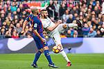 FC Barcelona's Javier Mascherano , Real Madrid's Karim Benzema during spanish La Liga match between Futbol Club Barcelona and Real Madrid  at Camp Nou Stadium in Barcelona , Spain. Decembe r03, 2016. (ALTERPHOTOS/Rodrigo Jimenez)