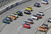 #88: Alex Bowman, Hendrick Motorsports, Chevrolet Camaro Nationwide / Amazon Echo Auto, #41: Daniel Suarez, Stewart-Haas Racing, Ford Mustang Haas Automation and #95: Matt DiBenedetto, Leavine Family Racing, Toyota Camry One Bite