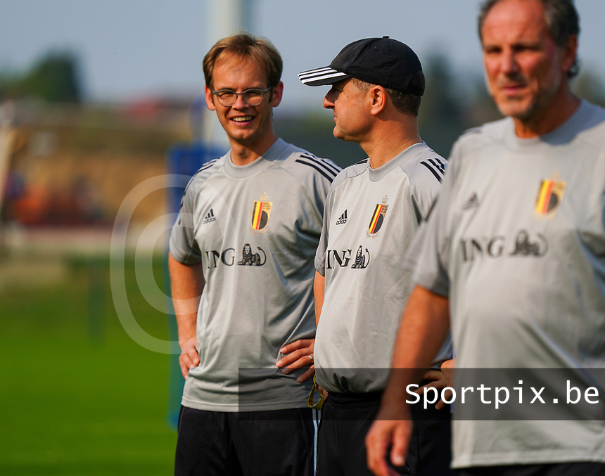 20200911 - TUBIZE , Belgium : Sven Cnudde (L)pictured with Ives Serneels (R) during a training session of the Belgian Women's National Team, Red Flames , on the 11th of September 2020 in Tubize. PHOTO SEVIL OKTEM| SPORTPIX.BE