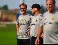 20200911 - TUBIZE , Belgium : Sven Cnudde (L)pictured with Ives Serneels (R) during a training session of the Belgian Women's National Team, Red Flames , on the 11th of September 2020 in Tubize. PHOTO SEVIL OKTEM  SPORTPIX.BE