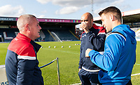 Bolton Wanderers' U18's manager Nicky Spooner (left) with assistant manager  Gavin McCann (centre) <br /> <br /> Photographer Andrew Kearns/CameraSport<br /> <br /> The Carabao Cup First Round - Rochdale v Bolton Wanderers - Tuesday 13th August 2019 - Spotland Stadium - Rochdale<br />  <br /> World Copyright © 2019 CameraSport. All rights reserved. 43 Linden Ave. Countesthorpe. Leicester. England. LE8 5PG - Tel: +44 (0) 116 277 4147 - admin@camerasport.com - www.camerasport.com