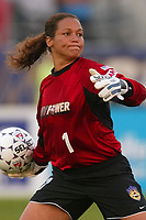 Saskia Webber of the New York Power pitched a shut out until the 90th minute when Julie Fleeting of the San Diego Spirit scored the games only goal. The Spirit defeated the Power 1-0 on July 20th at Mitchel Athletic Complex, Uniondale, NY.