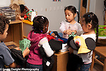 Preschool  4 year olds group playing store