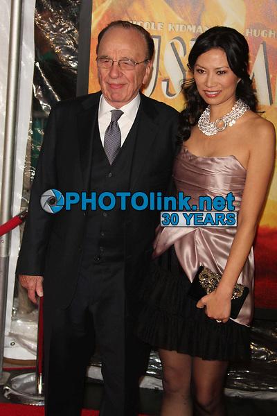 Rupert Murdoch & wife Wendi Deng  11-24-08 Photo By John Barrett/PHOTOlink