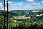 Grand Duchy of Luxembourg, View over the Our Valley near Vianden