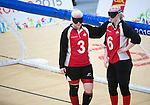 Whitney Bogart and Jill MacSween, Toronto 2015 - Goalball.<br /> Canada's Women's Goalball team plays against USA in the semi finals // L'équipe féminine de goalball du Canada joue contre les États-Unis en demi-finale. 14/08/2015.