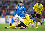St Johnstone v Alashkert FC...09.07.15   UEFA Europa League Qualifier 2nd Leg<br /> Michael O'Halloran is tackled by Vahagn Minasyan<br /> Picture by Graeme Hart.<br /> Copyright Perthshire Picture Agency<br /> Tel: 01738 623350  Mobile: 07990 594431