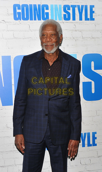 NEW YORK, NY - March 30: Morgan Freeman attends the 'Going In Style' New York Premiere at SVA Theatre on March 30, 2017 in New York City. <br /> CAP/MPI/JP<br /> ©JP/MPI/Capital Pictures