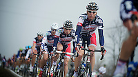 Milan-San Remo 2012.raceday.Team Lotto-Belisol grouped in the peloton (76km in to the race)