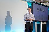Pitch Room Winner presentation: Christoph Rieche, iwoca, Wired Money fintech event, Level39, Canary Wharf.