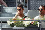 Real Madrid's Cristiano Ronaldo during Madrid Open Tennis 2015 match.May, 7, 2015.(ALTERPHOTOS/Acero)