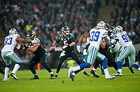 09.11.2014.  London, England.  NFL International Series. Jacksonville Jaguars versus Dallas Cowboys. Jacksonville Jaguars' Quarterback Blake Bortles (#5) in action.