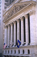 New York Stock Exchange, NYSE building on Wall Street, New York City, USA