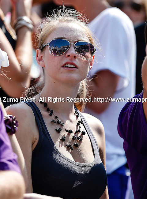 TCU Horned Frogs fans watch the action during the game between the Virginia Cavaliers and the TCU Horned Frogs  at the Amon G. Carter Stadium in Fort Worth, Texas. TCU defeats Virginia 27 to 7...