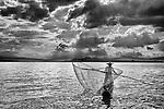 Fisherman on Lake Pátzcuaro, Mexico
