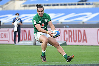 James Lowe  of Ireland scores a try<br /> Roma, Olimpico stadium, 27/02/2021.<br /> Italy vs Ireland <br /> Six Nations 2021 rugby trophy <br /> Photo Antonietta Baldassarre/ Insidefoto