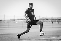 BRADENTON, FL - JANUARY 21: Miles Robinson shoots the ball during a training session at IMG Academy on January 21, 2021 in Bradenton, Florida.