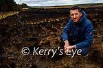 Hubert Servingat standing at the Black Banks in Toureenablaha Loughfouder at site of a devastating gorse fire