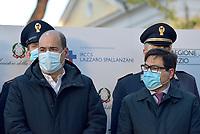 Roma, 27 Dicembre 2020.<br /> Nicol Zingaretti, Alessio D'Amato.<br /> Conferenza stampa di presentazione della campagna di vaccinazione contro il Covid all'istituto Lazzaro Spallanzani