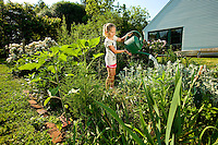 Woodlawn School student during their gardening class at the school in Davidson, NC...Photos by: Patrick SchneiderPhoto.com
