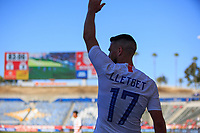 CARSON, CA - FEBRUARY 1: Sebastian Lletget #17  of the United States takes a cornerkick during a game between Costa Rica and USMNT at Dignity Health Sports Park on February 1, 2020 in Carson, California.