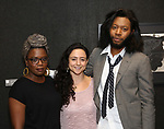 Antoinette Nwandu, Danya Taymor and Jeremy O. Harris  attends the Vineyard Theatre Paula Vogel Playwriting Award honoring Jeremy O. Harris on October 12, 2018 at the National Arts Club in New York City.