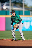 Norfolk Tides Jack Reinheimer (3) during an International League game against the Buffalo Bisons on June 22, 2019 at Sahlen Field in Buffalo, New York.  Buffalo defeated Norfolk 3-0.  (Mike Janes/Four Seam Images)